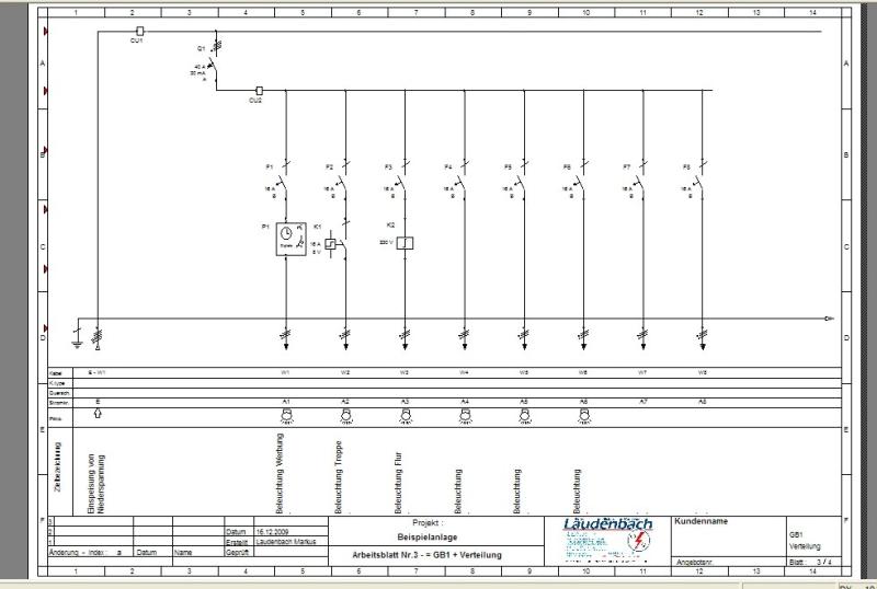 Stromplan Von Hausinstallation Erstellen